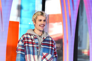 """Justin Bieber storms MTV's """"Fresh Out Live"""" and makes a superfan's dreams come true on February 07, 2020 in New York City."""