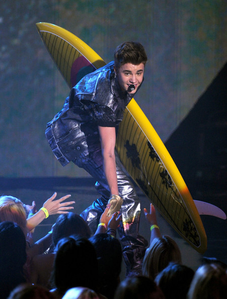 Justin Bieber Singer Justin Bieber performs onstage during the 2012 Teen Choice Awards at Gibson Amphitheatre on July 22, 2012 in Universal City, California.