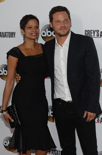"Happily married husband and wife: Justin Chambers and Keisha at the ""Grey's Anatomy"" 200th Episode Celebration at The Colony"