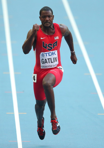 Justin Gatlin Justin Gatlin of the United States competes in the Men's ...