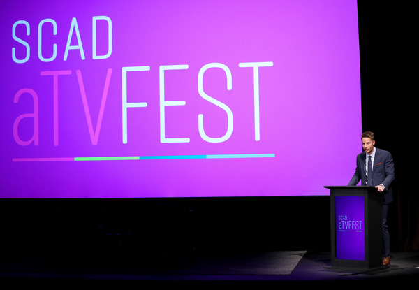 """SCAD aTVfest 2020 - """"Prodigal Son"""" With Tom Payne Discovery Award, Actor Presentation [violet,purple,text,font,event,design,public speaking,magenta,speech,company,prodigal son,justin hartley,actor presentation,tom payne discovery award,georgia,atlanta,scad atvfest,public relations,logo,font,presentation,display device,purple,m,public,meter]"""