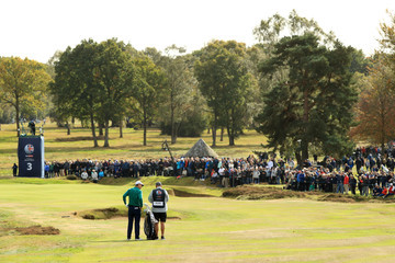 Justin Rose Mark Fulcher Sky Sports British Masters - Day Two