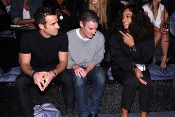 Justin Theroux Front Row at Alexander Wang X H&M Launch