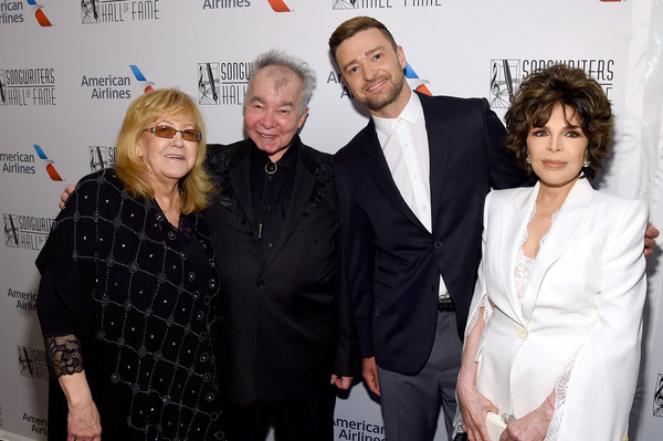 Songwriters Hall Of Fame 50th Annual Induction And Awards Dinner - Backstage [event,premiere,suit,white-collar worker,carpet,linda moran,carole bayer sager,john prine,justin timberlake,songwriters hall of fame 50th annual induction and awards dinner,new york city,the new york marriott marquis]