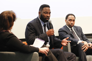 Justin Tuck SiriusXM Business Radio Broadcasts 'Beyond The Game: Tackling Race' From Wharton San Francisco