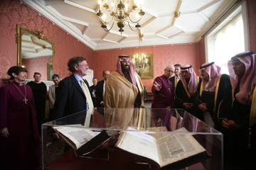 Justin Welby IN FOCUS: Saudi Arabia Crown Prince Mohammed Bin Salman Official Three Day Visit To The UK