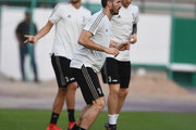 Giorgio Chiellini of Juventus in action during a training session on January 15, 2019 in Jeddah, Saudi Arabia.