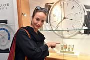 Actress Lara Joy Koerner attends the launch event for watchmaking company NOMOS Glashuette at Juweler Hilscher on June 19, 2018 in Munich, Germany.