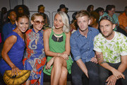Actress Toni Trucks and designers Nikki Poulos and Ulyana Bezeruk,  Anderson Twigley and Casey Smith attend the K. Nicole fashion show during Mercedes-Benz Fashion Week Spring 2015 at Pier 59 on September 11, 2014 in New York City.