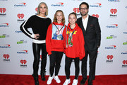 (L-R) Naomi Lowde-Priestley, guest, Ava Veronica Priestley and Jason Priestley attend KIIS FM's Jingle Ball 2019 presented by Capital One at The Forum on December 06, 2019 in Inglewood, California.