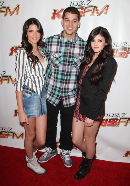 Kendall Jenner TV personalities Kendall Jenner, Robert Kardashian and Kylie Jenner arrive at KIIS FM's Wango Tango 2010 at the Staples Center on May 15, 2010 in Los Angeles, California.