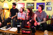 (L-R) Sameer Gadhia, Jacob Tilley, Payam Doostzadeh and Francois Comtois of Young the Giant speak during an interview at KROQ Absolut Almost Acoustic Christmas at The Forum on December 9, 2018 in Inglewood, California.