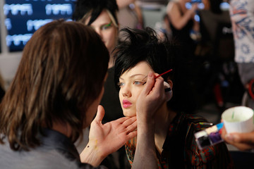 Kabuki Jeremy Scott - Backstage -  Fall 2013 MADE Fashion Week