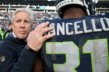 Kam Chancellor Divisional Round - Seattle Seahawks v Carolina Panthers