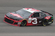 Austin Dillon, driver of the #3 Dow Chevrolet, practices for the Monster Energy NASCAR Cup Series Hollywood Casino 400 at Kansas Speedway on October 19, 2018 in Kansas City, Kansas.