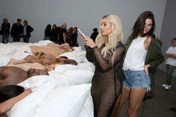 Kanye West Kendall Jenner Famous by Kanye West Private Exhibition Event at Blum and Poe, Los Angeles