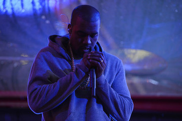 Kanye West Times Square Goes (Red) with a Surprise World AIDS Day Concert