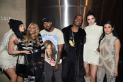 (L-R) Kylie Jenner, Lil' Kim, Kanye West, ASAP Rocky, Kendall Jenner and Kourtney Kardashian attend Kanye West Yeezy Season 3 on February 11, 2016 in New York City.