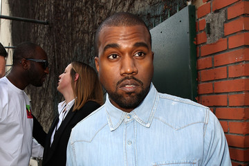 Kanye West Celine : Outside Arrivals  - Paris Fashion Week Womenswear Fall/Winter 2014-2015