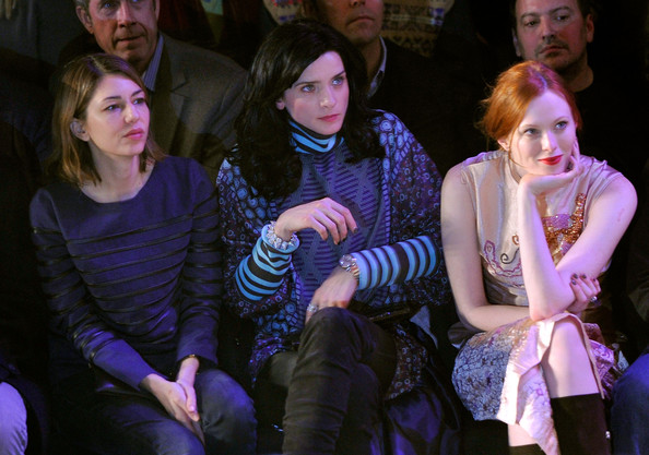 Front Row at the Anna Sui Show