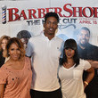 Kario Whitfield 'Barbershop: The Next Cut' Atlanta VIP Screening With Cast Members Ice Cube And Cedric the Entertainer