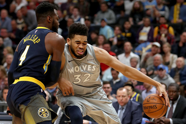 Karl-Anthony Towns Photos Photos - Minnesota Timberwolves v Denver ... 8c677d6a7
