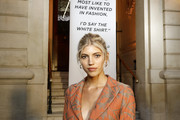 """Devon Windsor attends the """"Tribute to the Karl Lagerfeld: The White Shirt Project"""" exhibition as part of Paris Fashion Week in Paris on September 25, 2019."""