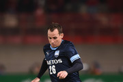 Luke Wilkshire #26 of Sydney FC controls the ball during the AFC Champions League Group H match between Kashima Antlers and Sydney FC at Kashima Soccer Stadium on March 13, 2018 in Kashima, Ibaraki, Japan.