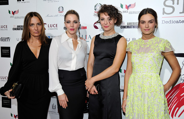 'The Great Beauty' Premieres in Hollywood [the great beauty,cinema italian style 2013,premiere,fashion,event,dress,fashion design,carpet,flooring,red carpet,white-collar worker,fashion accessory,maria sole tognazzi,actresses,claudia gerini,style,l-r,cinema italian,opening night red carpet premiere,premiere]