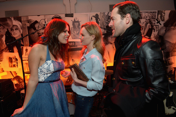 GUESS Celebrates New York Fashion Week [on the road,red,fashion,event,performance,costume,party,flesh,crowd,guess celebrates new york fashion week,atlanta de cadenet taylor,actors,kate bosworth,michael polish,l-r,center 548,new york city,on the road to nashville - inside]