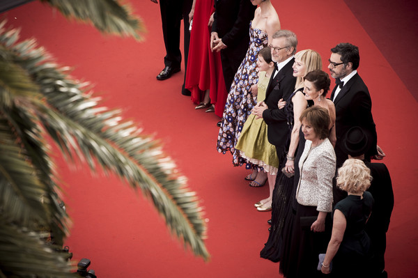 'The BFG' - Red Carpet Arrivals - The 69th Annual Cannes Film Festival [image,fashion,event,fun,ceremony,carpet,performance,red carpet arrivals,kate capshaw,steven spielberg,mark rylance,ruby barnhill,filters,bfg,cannes film festival,screening]