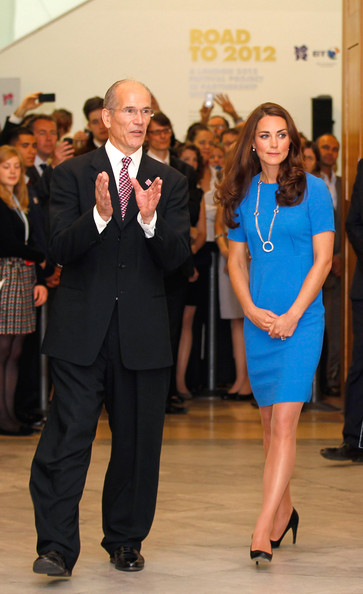 Catherine, Duchess of Cambridge Visits National Portrait Gallery's 'Road To 2012: Aiming High' Exhibition