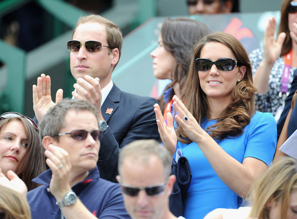 Kate Middleton Catherine, Duchess of Cambridge and Prince William, Duke of Cambridge during the match between Andy Murray of Great Britain and Nicolas Almagro of Spain in the Quarterfinal of Men's Singles Tennis on Day 6 of the London 2012 Olympic Games at Wimbledon on August 2, 2012 in London, England.