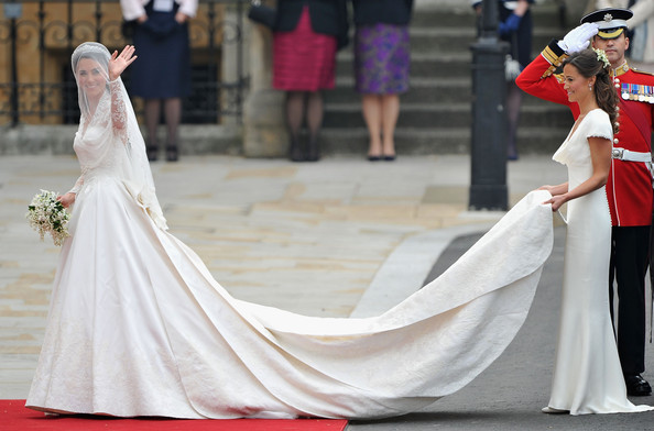 Kate Middleton and Pippa Middleton - Royal Wedding Arrivals