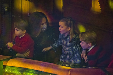 Kate Middleton Prince George The Duke and Duchess Of Cambridge And Their Family Attend Special Pantomime Performance To Thank Key Workers
