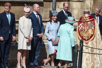 Kate Middleton Prince Harry The Royal Family Attend Easter Service At St George's Chapel, Windsor