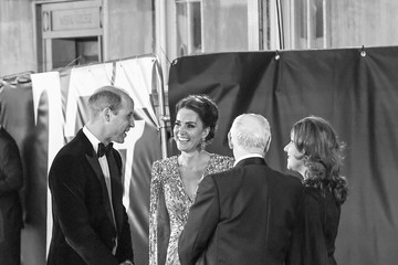 """Kate Middleton Prince William """"No Time To Die"""" World Premiere - Red Carpet Arrivals"""