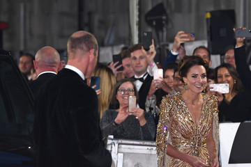 """Kate Middleton Prince William World Premiere Of """"NO TIME TO DIE"""" - Red Carpet"""