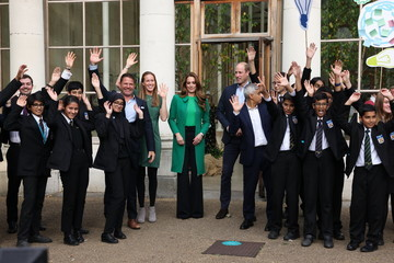 Kate Middleton Prince William The Duke And Duchess Of Cambridge Take Part In A Generation Earthshot Event At Kew Gardens