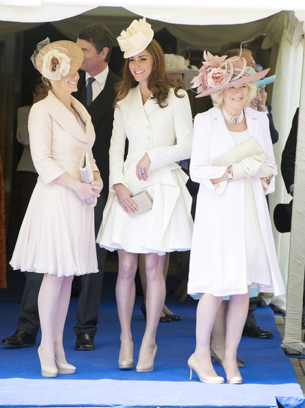 Kate Middleton Wears All-White Alexander McQueen Double-Breasted Dress Coat