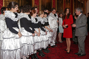 Kate Middleton Queen Elizabeth II Hosts a Reception