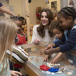 Kate Middleton The Duchess Of Cambridge Visits LEYF Stockwell Gardens Nursery & Pre-School