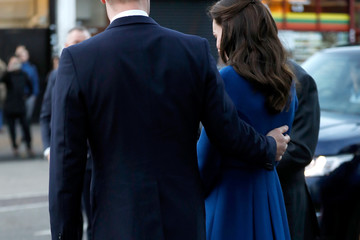 Kate Middleton The Duke & Duchess Of Cambridge Visit A Child Bereavement UK Centre