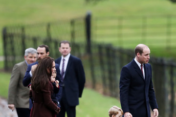 Kate Middleton The Royal Family Attend Church On Christmas Day