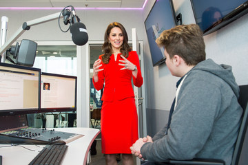 Kate Middleton The Duke & Duchess of Cambridge and Prince Harry Officially Open the Global Academy