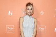 Charlotte McKinney attends The Kate Somerville Clinic's 15th  Anniversary Party  at The Kate Somerville Clinic on October 10, 2019 in Los Angeles, California.