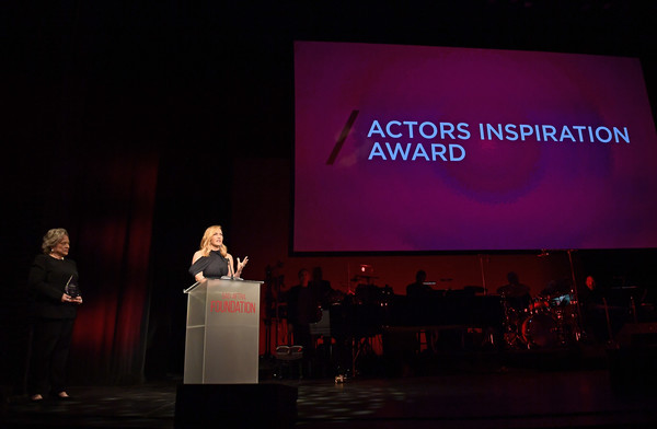 SAG-AFTRA Foundation Patron of the Artists Awards 2017 [projection screen,stage,presentation,public speaking,display device,projector accessory,event,design,convention,academic conference,kate winslet,r,kathy bates,actors inspiration award,beverly hills,california,wallis annenberg center for the performing arts,sag-aftra foundation patron of the artists awards,sag-aftra foundation patron of the artists awards 2017]