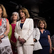 Katherine Clark Democratic House Leader Nancy Pelosi and House Democrats Hold News Conference on President's Controversial Tweets at MSNBC's TV Anchors