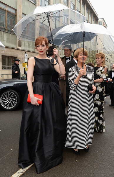The Olivier Awards With Mastercard - VIP Arrivals [lady,fashion,dress,street fashion,little black dress,umbrella,event,haute couture,fashion accessory,sunglasses,arrivals,susan brown,katherine parkinson,olivier awards,england,london,royal albert hall,mastercard,vip,the olivier awards]