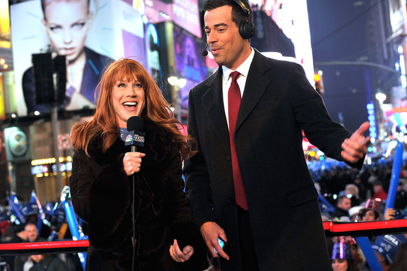 Kathy Griffin Comedianne Kathy Griffin and  TV personality Carson Daley attend New Year's Eve 2011 with Carson Daly at Times Square on December 31, 2010 in New York City.